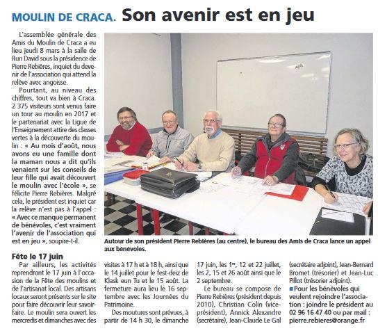 Moulin de craca assemblee generale 8 mars 2018